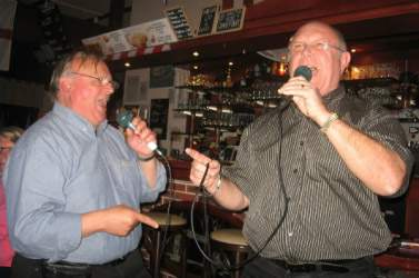 Two men singing